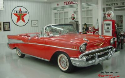 1957 Chevrolet Bel Air Convertible / Red