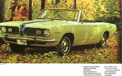 1967 Plymouth Barracuda 2 DR. Convertible